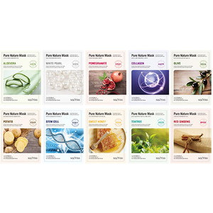 Secriss Pure Nature Mask Pack 10Sheets (1ea of each types)
