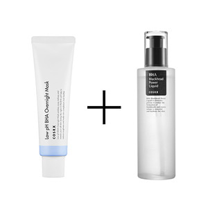 COSRX Low PH BHA Overnight Mask 50ml + COSRX BHA BLACKHEAD POWER LIQUID 100 ML