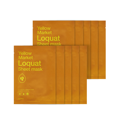 A'PIEU Yellow Market Loquat Sheet Mask 10ea